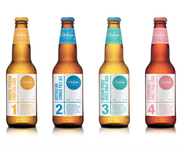 Product Label Design - Pembroke Craft Brewery