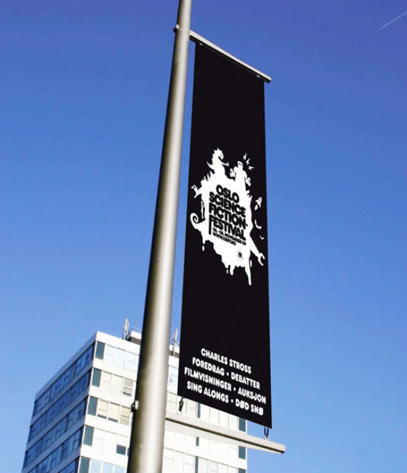 Vinyl Banner Design - Oslo Science Fiction Festival