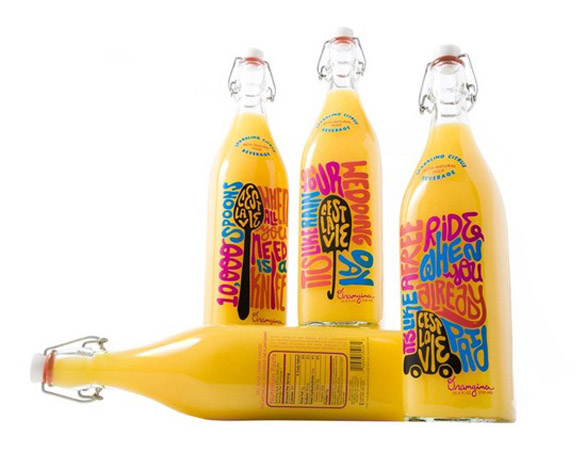 Beverage Label Printing - orangina