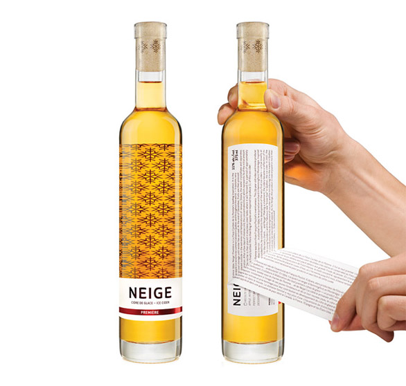 Beverage Label Printing - neige