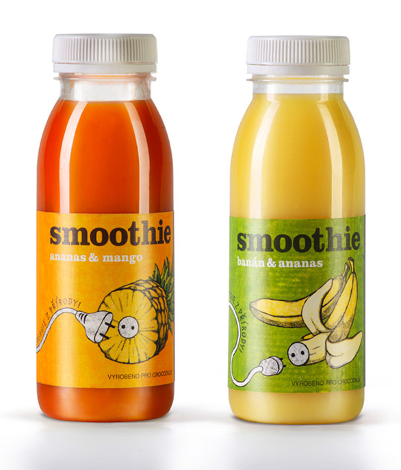 Beverage Label Printing - smoothie