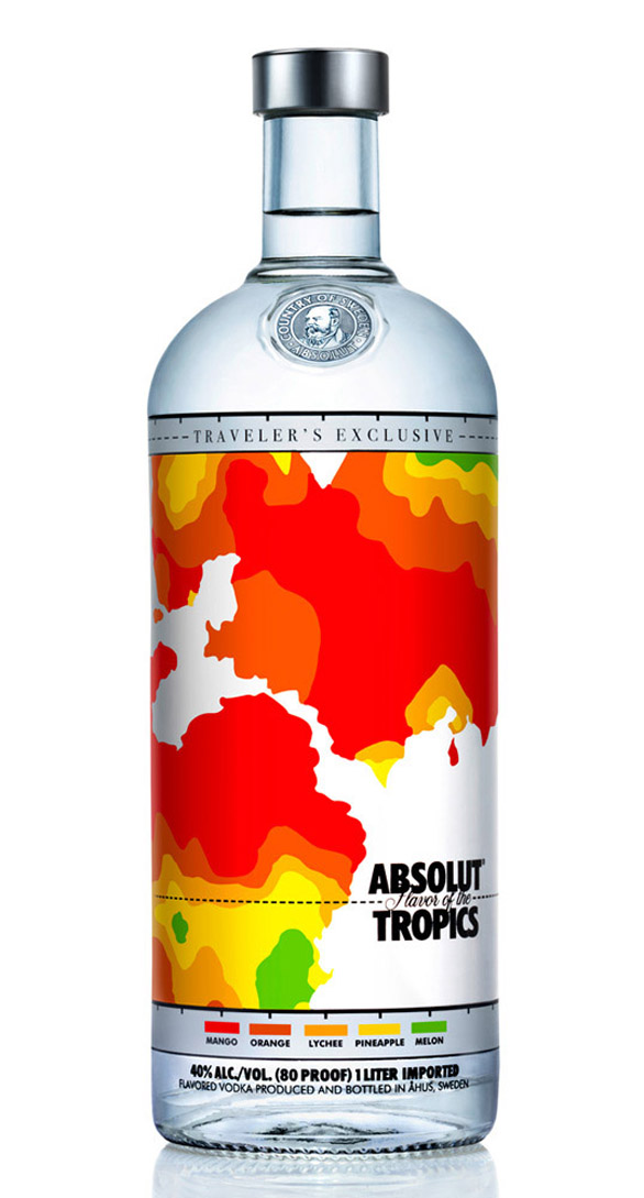 Beverage Label Printing - absolut tropical