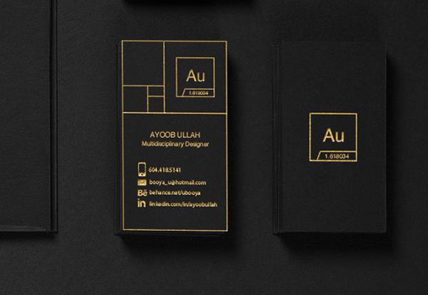 Black Business Card - Gold