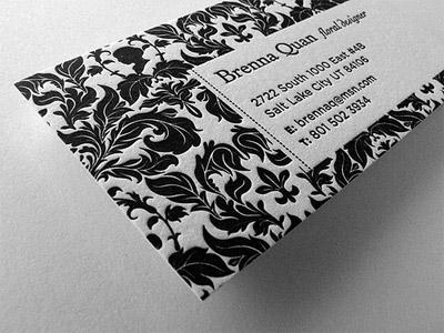Black Business Cards - Brenna