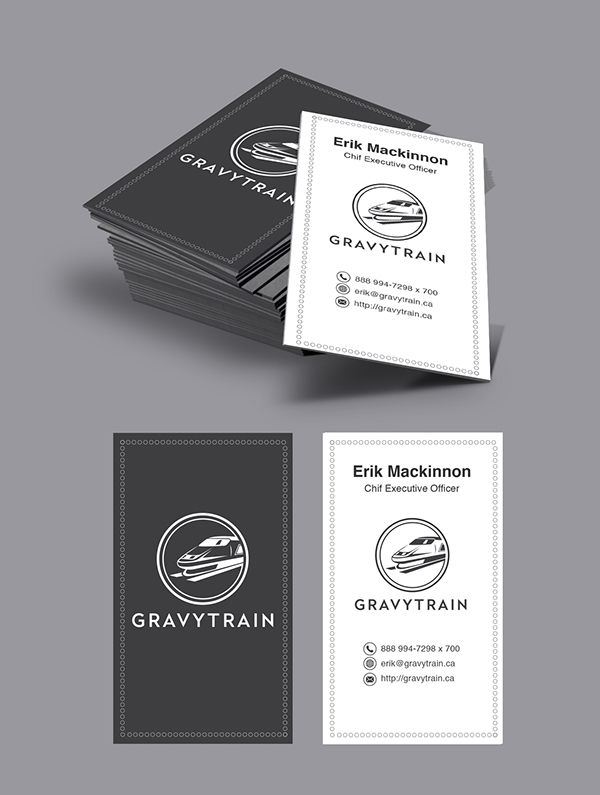 Black Business Cards - Gravy Train