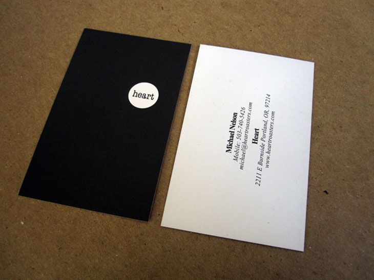 Black Business Cards - Heart