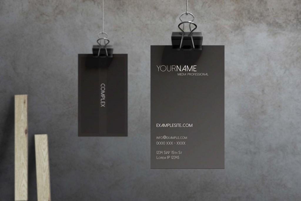 Black Business Cards - Macrochromatic