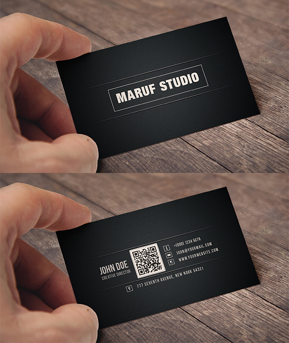 Black Business Cards - Maruff