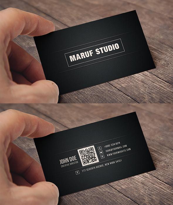 Black Business Cards - Maruff
