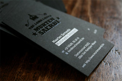 Black Business Cards - serneels