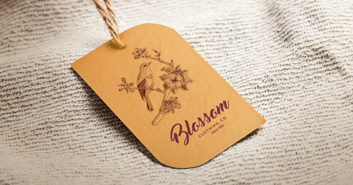 leaf hang tag with uncoated stock