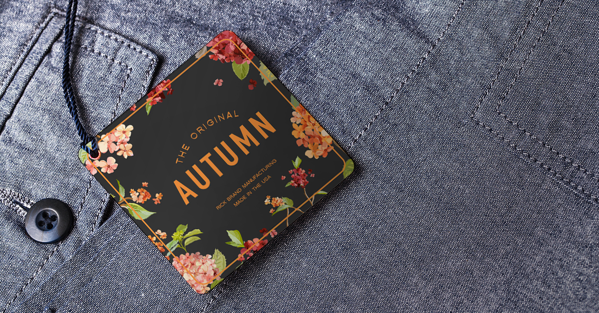 Floral clothing hang tag