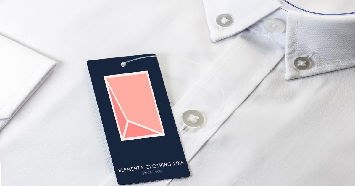 Logo clothing hang tag