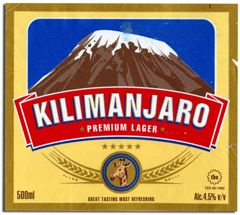Beer Label Design - Kilimanjaro