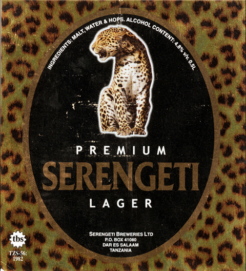 Beer Label Design - Serengeti