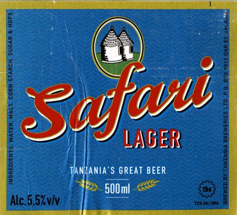 Beer Label Design - Safari