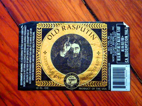 Beer Label Design - Rasputin