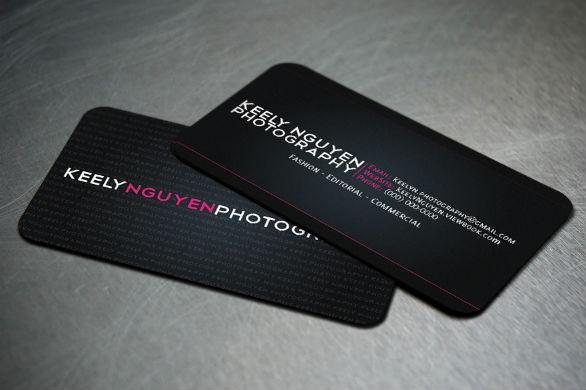 Black Business Cards - Keely Nguyen