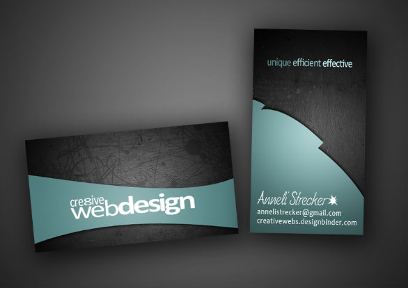 Black Business Cards - Cre8tive Webdesign