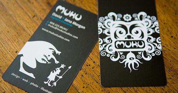 Black Business Cards - Muku