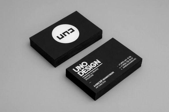 Black Business Cards - Uno Design