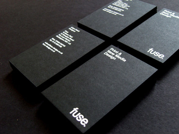 Black Business Cards - Fuse Design