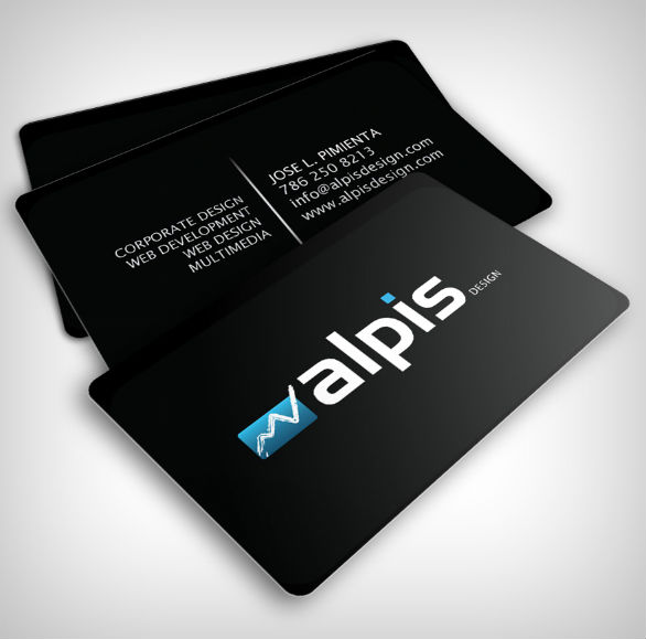 Black Business Cards - Alpis