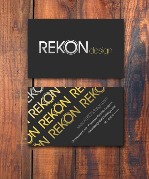 Black Business Cards - Rekon Design