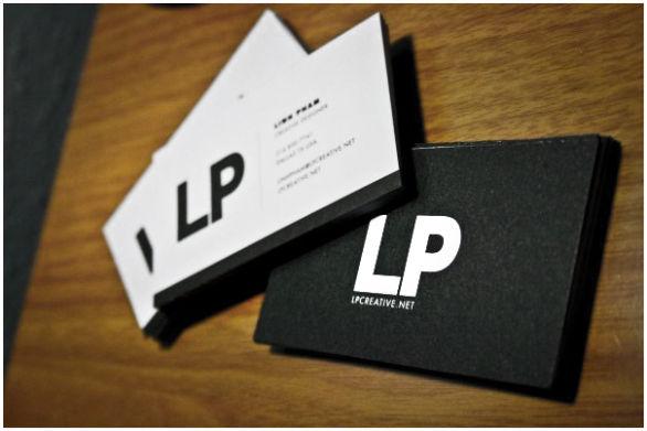 Black Business Cards - LP Creative