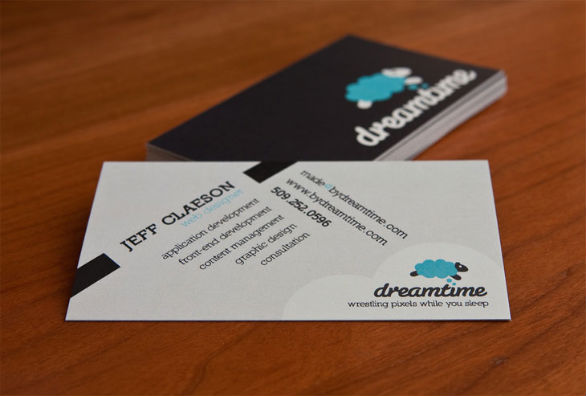 Black Business Cards - Dreamtime