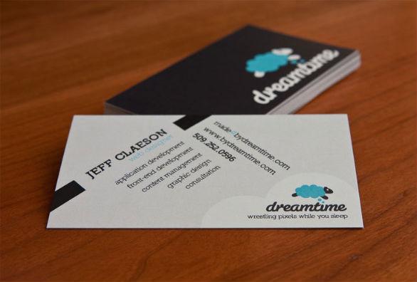 Black Business Cards - Dreamtime