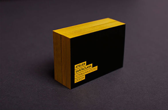 Black Business Cards - Atelier