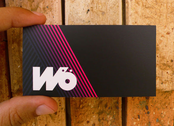Black Business Cards - Wo