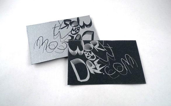 Black Business Cards - WorkByDrew