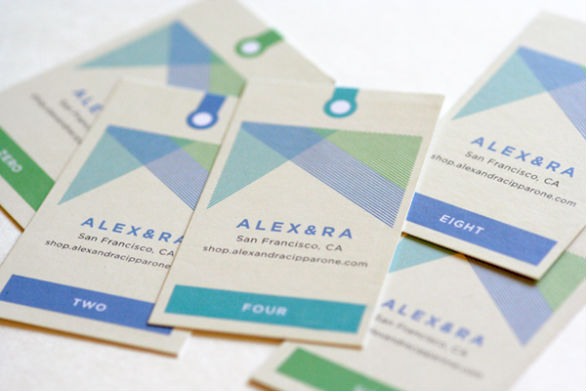 Clothing Hang Tag Design - ALEXandRA Identity