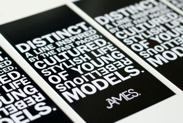 Clothing Hang Tag Design - James Fashion Line