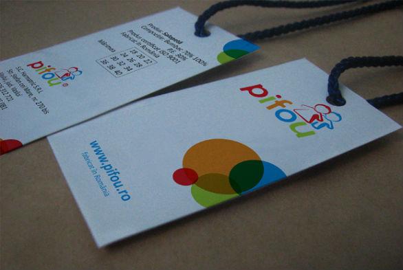Clothing Hang Tag Design - Pifou