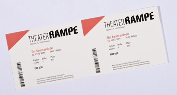 Custom Event Tickets - Theater Rampe