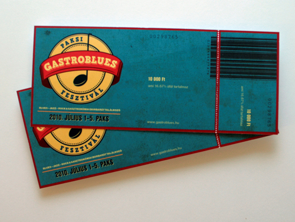 Custom Event Tickets - Gastroblues Fesztival
