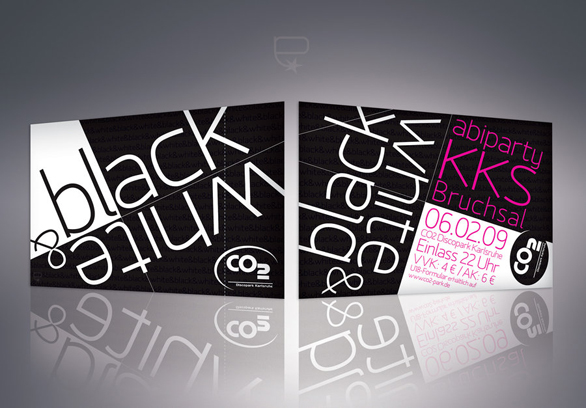 Custom Event Tickets - Black and White Party