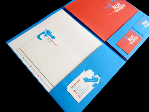 Custom Pocket Folder Printing - Stationery and Folder
