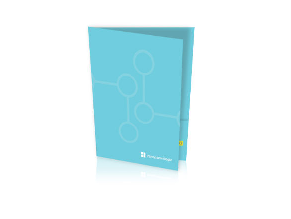 Custom Pocket Folder Printing - Transparent Logic