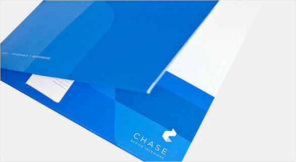 Custom Pocket Folder Printing - Chase Office Interiors