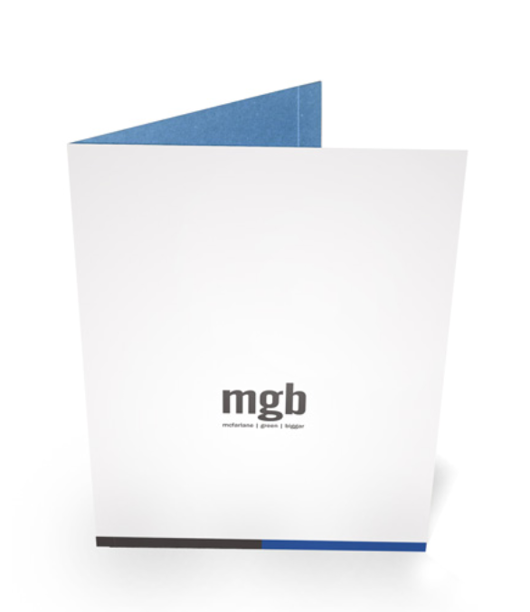 Custom Pocket Folder Printing - MGB Architecture Firm