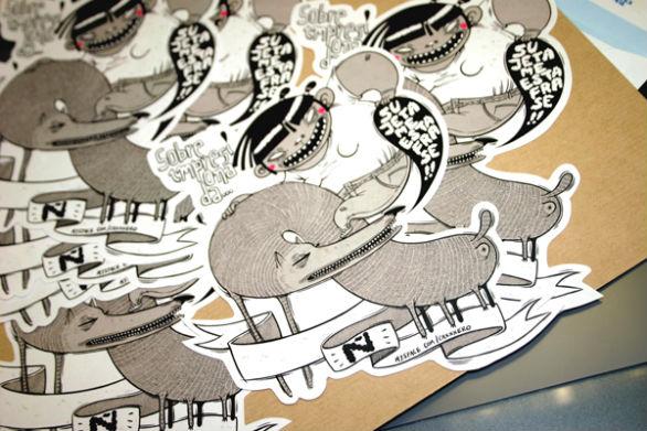 Custom sticker design stickers on behance 1