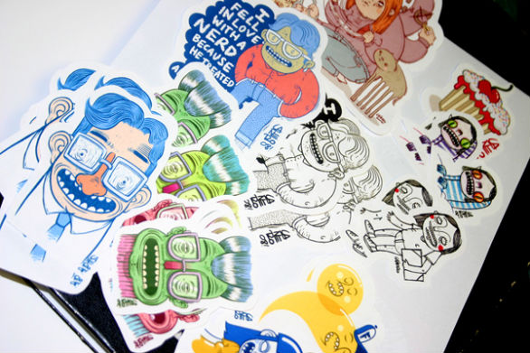 Custom Sticker Design - Stickers on Behance 2