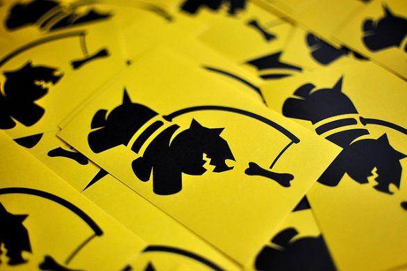 Custom Sticker Design - Chasing Bones