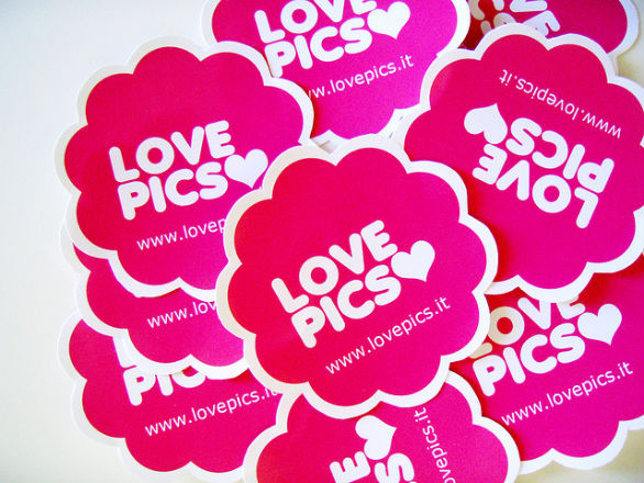 Custom Sticker Design - Love Pics