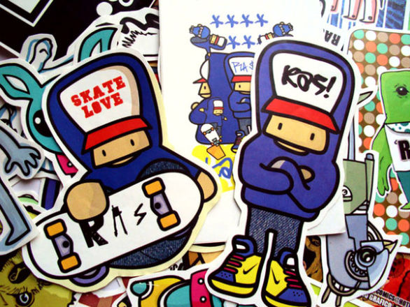 Custom Sticker Design - Skate Love