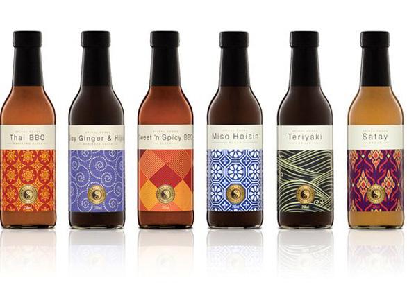 Food Label Design - Spiral Condiments